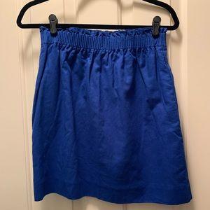 NTW JCrew linen mini skirt blue size 4